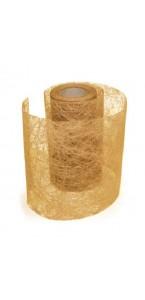 Rouleau de ruban déco or 10 cm x 10 m