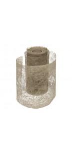 Rouleau de ruban déco taupe 10 cm x 10 m