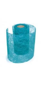 Rouleau de ruban déco turquoise 10 cm x 10 m