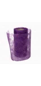 Rouleau de ruban déco violet 10 cm x 10 m