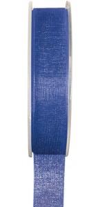 Rouleau de ruban organdi bleu 25 m