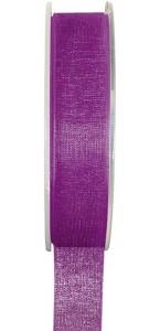 Rouleau de ruban organdi violet 25 m