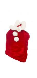 Sac à cadeaux velours rouge 90 x 60 cm