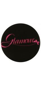 Sachet 50 confettis Glamour noir/fuschia