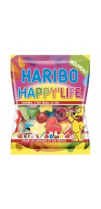 Sachet bonbons Happy life Haribo 120 g