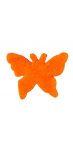 Sachet de 15 papillons gomme orange