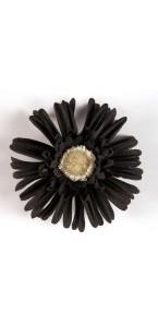 Sachet de 4 fleurs  gerberas noir