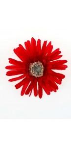 Sachet de 4 fleurs  gerberas rouges