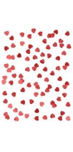 Sachet de Confettis de table Cœur rouge découpé métallique 14 gr