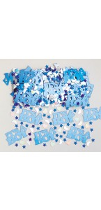 Sachet de Confettis de table it's a Boy bleu métallique 14 gr