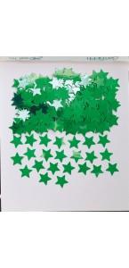 Sachet de confettis Etoile vert métallique 14 g