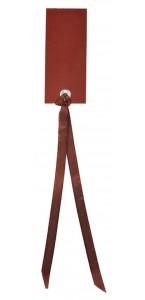 Sachet de12 marque-places en carton avec ruban chocolat
