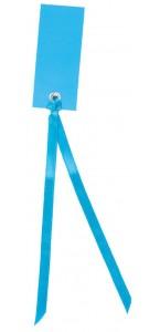 Sachet de12 marque-places en carton avec ruban turquoise