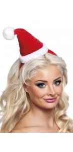 Serre-tête chapeau pointu Mère Noël