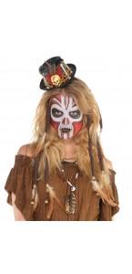 Serre-tête Vaudou Witch Doctor avec chapeau Halloween