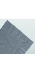 Serviettes taupe en papier ouate 2 plis 25x25 cm AVA