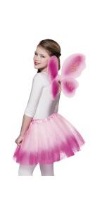Set de Fée avec ailes et jupon enfant