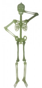 Squelette phosphorescent Halloween 147 cm