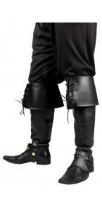 Surbottes luxe avec lacets et boucles noires taille adulte