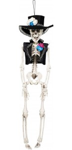 Suspension Squelette El Flaco Halloween 40 cm