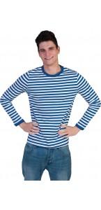 T-shirt marinière rayé bleu et blanc