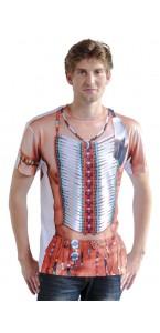 T-shirt photoréaliste Indien taille L