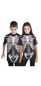 T-shirt Squelette Halloween 8/10 ans