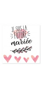 Tatouage éphemère future mariée
