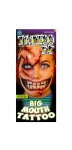 Tatouage grande bouche temporaire Halloween
