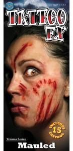 Tatouage mutilé temporaire Halloween