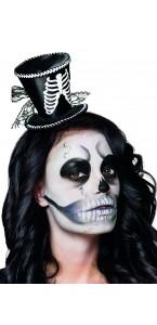 Tiare chapeau Ribbie motif squelette Halloween