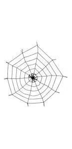 Toile d'araignée élastique avec araignée halloween 150 cm