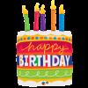 Ballon Shape Gâteau d'anniversaire avec bougies 89 cm