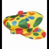 Casquette de clown jaune à pois