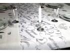 Chemin de table joyeux anniversaire argent 0.28 x 5 m