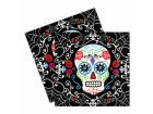 Lot de 20 serviettes jetables Jour des morts Halloween  33 x 33 cm