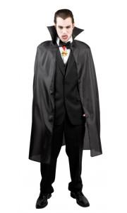 Cape de vampire halloween noire taille adulte