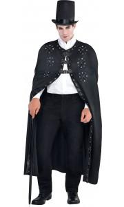 Cape noire gothique Halloween taille unique