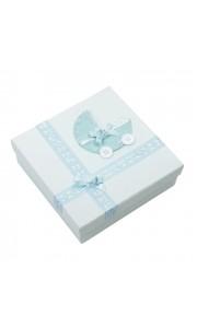 Coffret 16 boîtes bleues baptême garçon