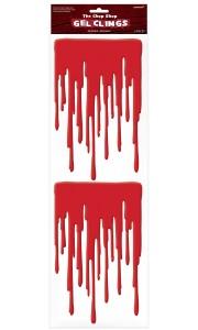 Coulures de sang Halloween en gel 49 cm x 16 cm