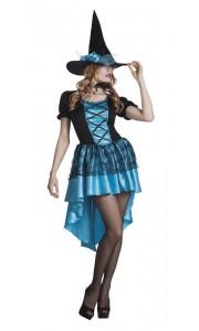Déguisement de sorcière Azur Halloween