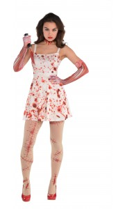 Déguisement robe ensanglantée Halloween femme