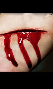Fausse Cicatrice lame de couteau 3D Halloween