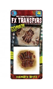 Fausse Cicatrice morsure de zombie 3D Halloween