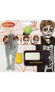 Kit de maquillage squelette  halloween