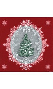 Lot de 20 serviettes Beau Sapin intissé 40 x 40 cm