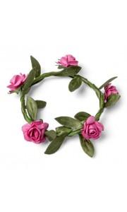 Lot de 4 Couronnes de fleurs fuschia D 5 cm