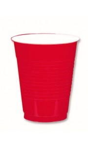 Lot de 50 gobelets cups rouges 50 cl