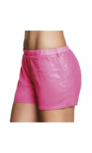 Mini short  sequins rose fluo taille M