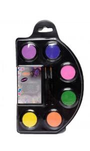 Palette de maquillage fluo 6 couleurs